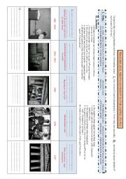 English Worksheet: Timeline about civil rights movement in the USA Student worksheet - heroes of the civil rights movement