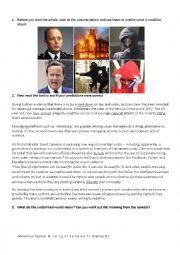 English Worksheet: Social Media and Criminality