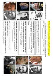 English Worksheet: Titanic: Characters vs real passengers
