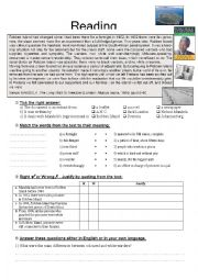 English worksheet: Mandela: Reading Comprehension