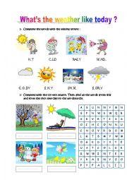 english worksheets the weather worksheets page 17. Black Bedroom Furniture Sets. Home Design Ideas