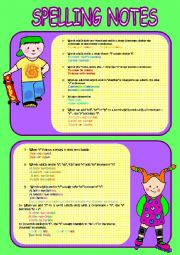 English Worksheet: ALL ABOUT SPELLING.