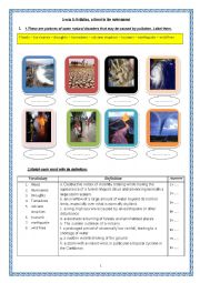 English Worksheet: pollution, a threat to the environment