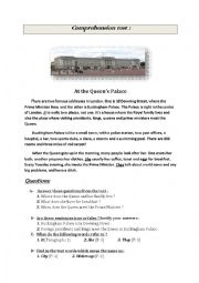 English worksheet: The Queen´s house ! (Copmrehension Test)