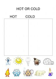 English Worksheet: HOT or COLD