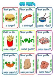 English Worksheet: Would you like a/some ...? + food (1/2)