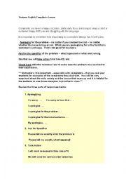 English Worksheet: Sample Complaint