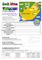 South Africa Webquest