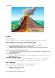English Worksheet: Volcanoes