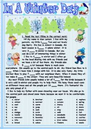 English Worksheet: In A Winter Day