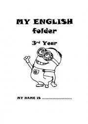 English Worksheet: Cover for English portfolio