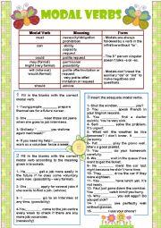 English worksheet: Modal Verbs