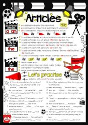 English Worksheet: Articles - guide & practice