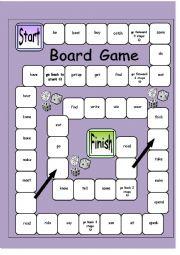English Worksheet: a board game - irregular verbs