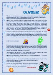 English Worksheet: Water