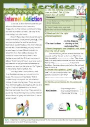 Internet and other services(End Term2 Test 9th form)3parts: Reading Comprehension+Language+Writing+Key.