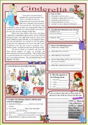 English Worksheet: CINDERELLA