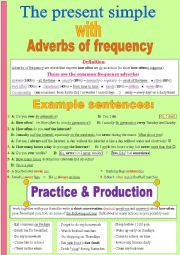 Adverbs of frequency & the present simple (how often ... ? )  + some wonderful practice (a speaking acitivity )