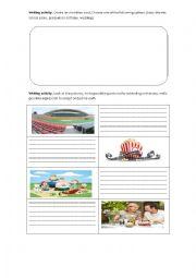 English Worksheet: Invitations: Writing activities