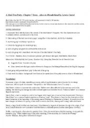 English Worksheet: Mad Hatter Tea Party Role Play