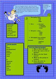 English Worksheet: Tennis Player