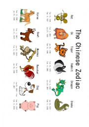 The Chinese Zodiac Animals