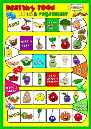 English Worksheet: Healthy food - fruit & vegetables