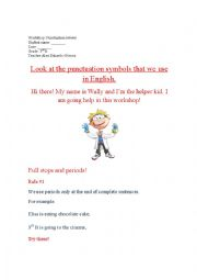 English Worksheet: Basic punctuation workshop
