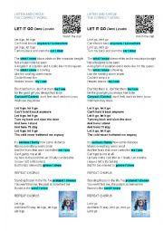 English Worksheet: LET IT GO - Demi Lovato [Frozen]