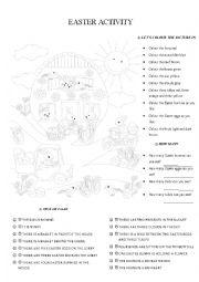 English Worksheet: Easter activity