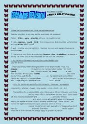 English Worksheet: GRAMMAR REVISION  ABOUT FAMILY RELATIONSHIP