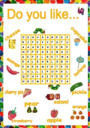English Worksheet: The very hungry caterpillar soup letter