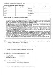 English Worksheet: Reading, Grammar and vocabulary test. Intermediate. Conditionals, wish clauses and passive voice.