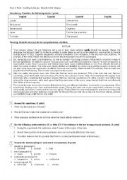 English Worksheet: Reading, Grammar and vocabulary test. Intermediate. Conditionals, wish clauses and passive voice. Muzak