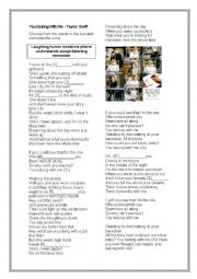 English Worksheet: You Belong with me - Taylor Swift
