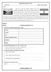 English Worksheet: India