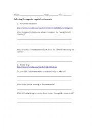 English Worksheet: Visual Literacy