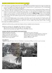 English Worksheet: The Slave Trade to America (text+questions+focus on used to and preterite)