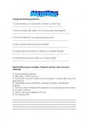 English Worksheet: invitations