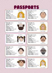 Passports (speaking cards)