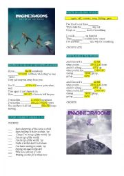 English Worksheet: IMAGINE DRAGONS �ON TOP OF THE WORLD�