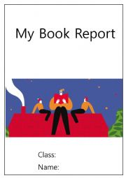 English Worksheet: Book report  sample