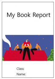 English Worksheet: Book report  sample