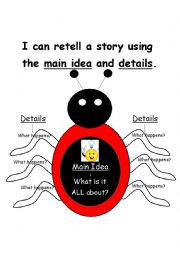 English Worksheet: Main Idea Lady Bug