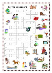 English Worksheet: Crossword for beginners (Project 1)