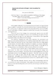 English worksheet: Reading, writing and listening test - 11th form