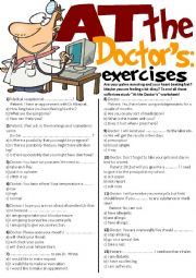At The Doctor´s Exercises(multiple choice+writing)
