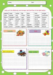 classify food items