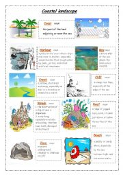 English Worksheet: Coastal landscape