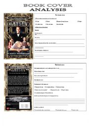 english worksheets the great gatsby book cover analysis. Black Bedroom Furniture Sets. Home Design Ideas